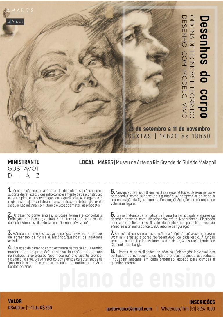 Desenhos do Corpo JPG, cartaz